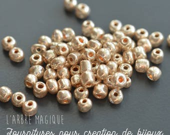 10g champagne gold seed beads opaque more or less 100 beads