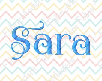 MODERN VINE font Embroidery Design  two sizes  upper and lower case for each  BX  #473
