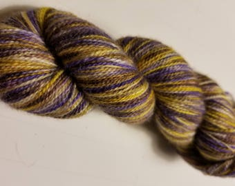 "Hand Dyed Lace Weight Yarn ""Supernatural Indigo"""