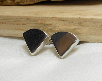 Cool Women Unique Handcraft Geometric 3D 925 Silver Sector Earrings,Sector Stud,Geometric Stud,Unique Stud,Sector earring,Personalized Gifts