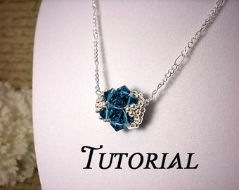Tutorial PDF Tubular Right Angle Weave Beaded Bead, Instant Download