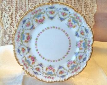 J Pouyat Limoges Dessert Plates, 12 Rare Antique Limoges Plates