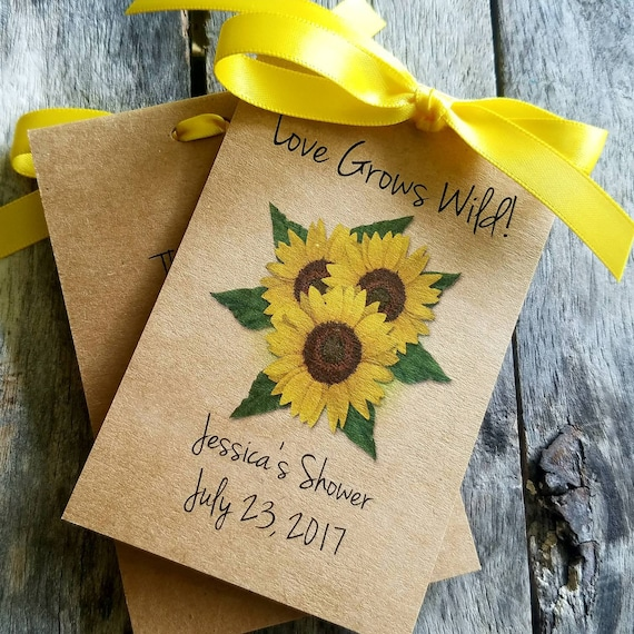 Rustic And Shabby Chic Favors Personalized Sunflowers Wedding