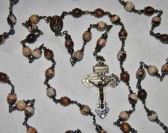 Immaculate Heart Jasper Rosary