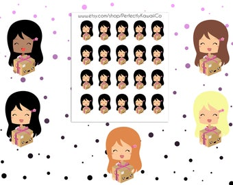 CDP22 Happy Mail fille Stickers | Courrier de Stickers | Paquet de Stickers