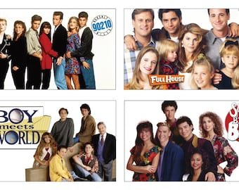 Magnets featuring 90s TV Shows- Full House, 90210, Boy Meets World, Saved by the Bell