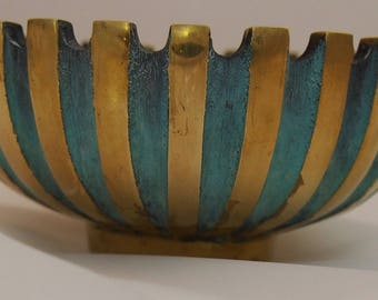 Pal-Bell Bronze Bowl With Verdigris Accent