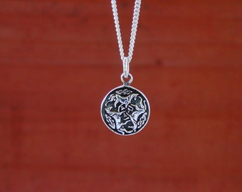 """Celtic Horse Pendant  with 18"""" Chain .925 Sterling Silver Equestrian Jewelry,Horse Pendant"""