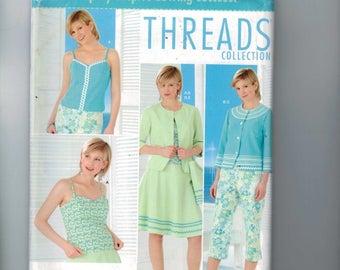 Misses Sewing Pattern Simplicity 0557 Misses and Petite Top Jacket Skirt Capri Pants Bag Size 12 14 16 18 Bust 34 36 38 40 UNCUT  99