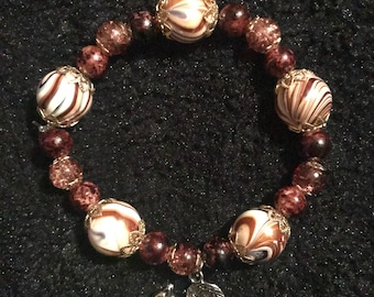 Beaded Squirrel Brown Fall Bracelet