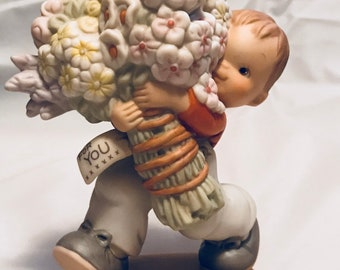 Whole  bunch of love for you. 1991 Enesco figurine from the memories of yesterday collection.