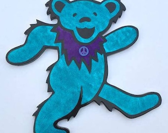 Sky Blue Glitter Dancing Bear