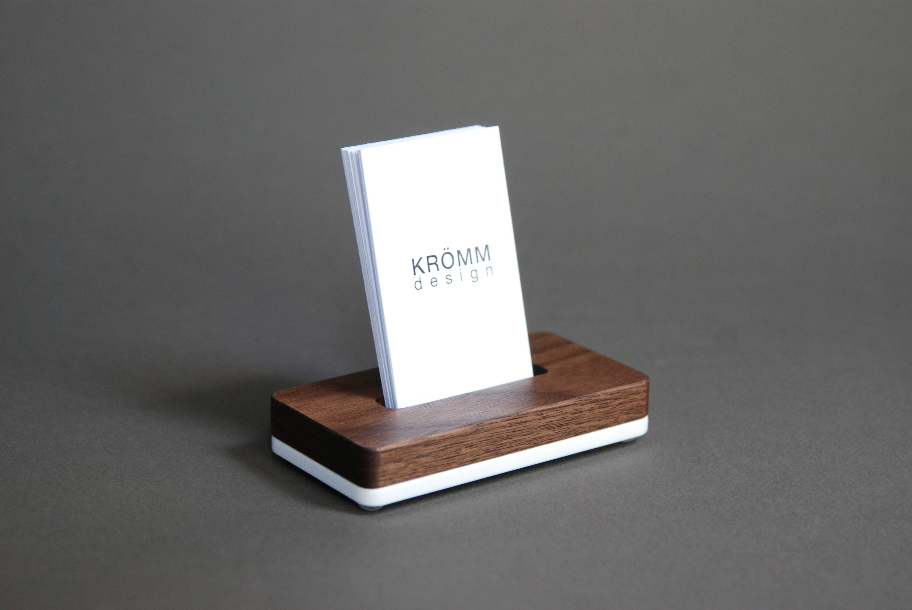 Vertical MOO Business Card Stand / Business Card Display /