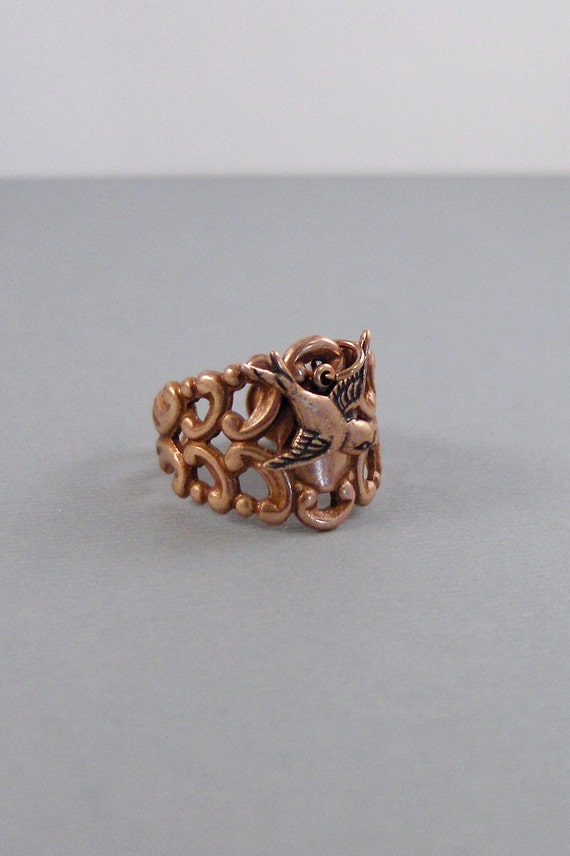 Rose Gold SparrowRingRose GoldBird RingSparrow