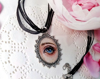Necklace. Lovers Eye. Original art.