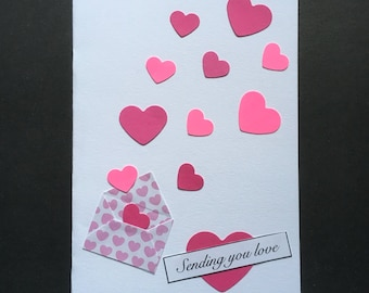 Sending Love blank greeting card