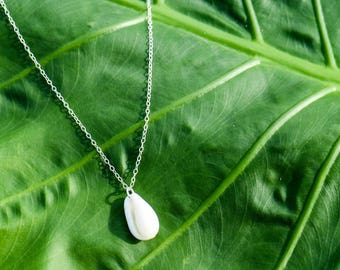 Cowrie Shell Necklace - Sterling Silver