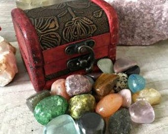 Treasure Chest with Gemstone Collection