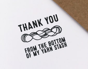 thank you from the bottom of my yarn stash: greeting card