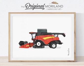 Combine Harvester Print, Transportation Wall Art, Tractor Farm Combine, Children's Room Art, Kids Room Decor, Farmhouse Decor, Printable