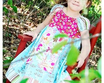 4T RTS // Butterfly Garden Peasant Dress // Handmade