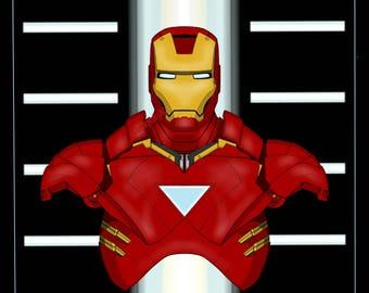 Iron Man - Original Hall of Armor Prints