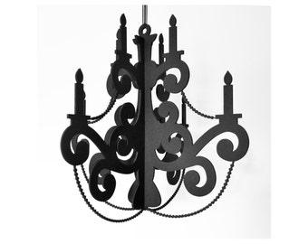 Xxl chandelier black home party decor beaded chandelier black party decor mozeypictures Choice Image