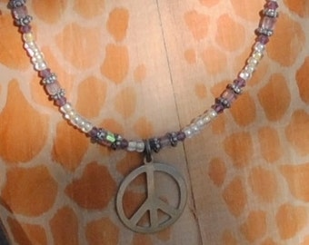 Purple peace necklace (#2)