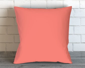 Coral Pillow, Coral Throw Pillow, Coral Bedding, Decorative Pillows, Coral Accent Pillow, Coral Pillows, Coral Cushion, Throw Pillow Covers