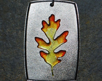 Pewter Oak Leaf Pendant Necklace