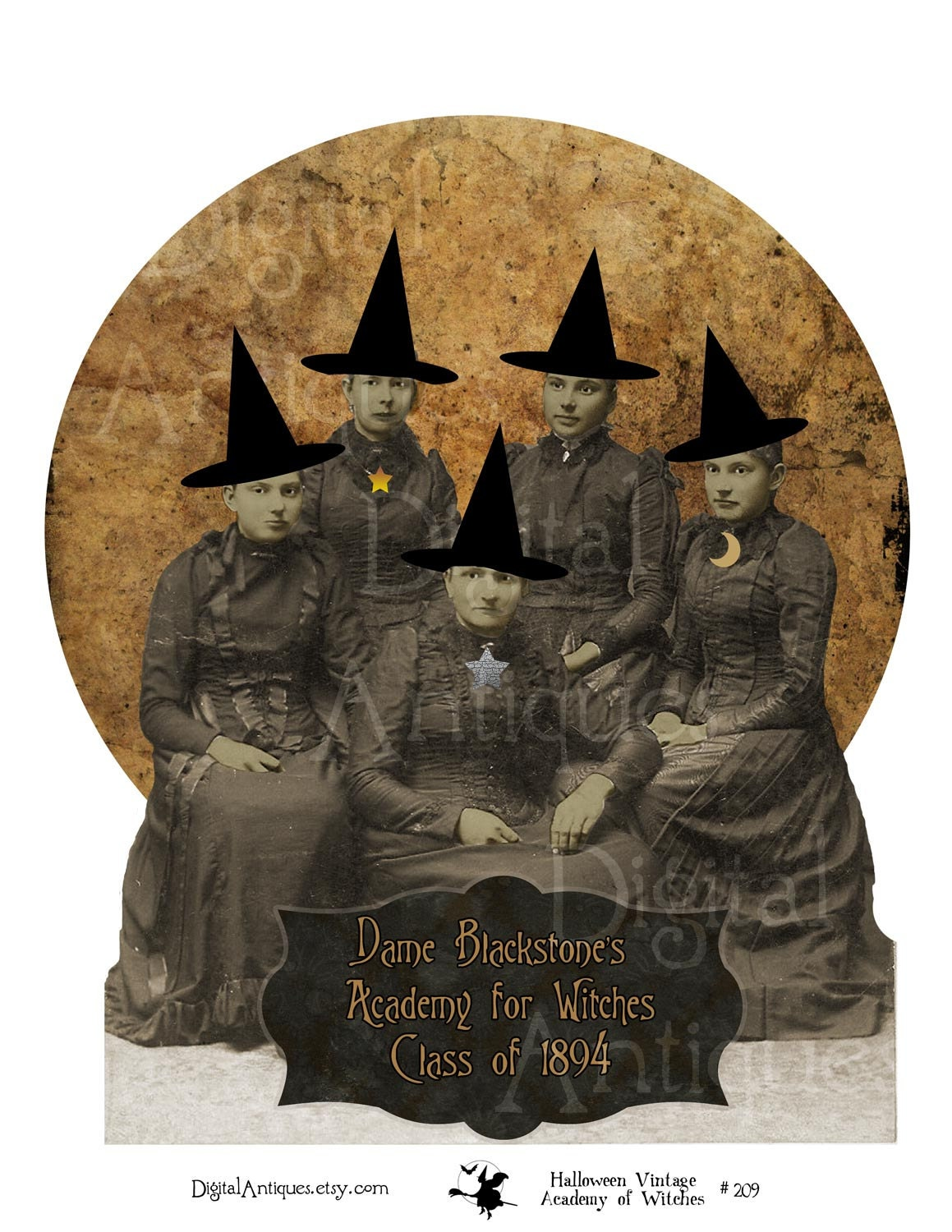 It is an image of Rare Vintage Halloween Printable