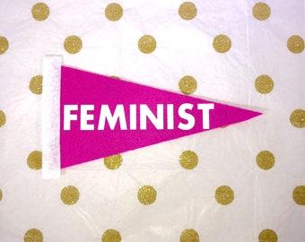 Feminist Gift - Feminist Pennant - Resist Protest Signs - Mini Pennants - Anti Trump - Resist Art - Feminist Sign - Feminist Quotes