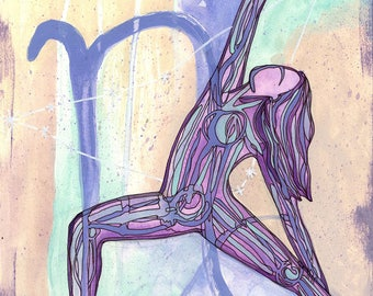 Capricorn | Yoga Art Print