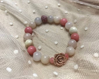 Blush Essential Oil Diffuser Bracelet