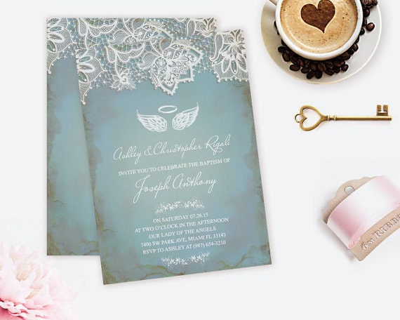 diy baptism invites
