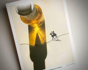signed PRINT – Egyptian lightning in a bottle