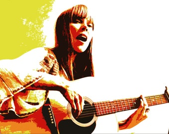 Limited 'Joni Mitchell' Art Print by Artist Ray Ferrer