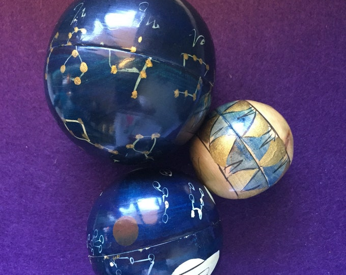Vintage Handpainted Cosmic Nesting balls