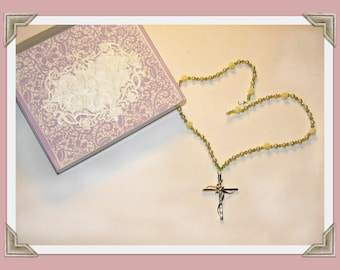 Ladies Silver and gold  cross gift