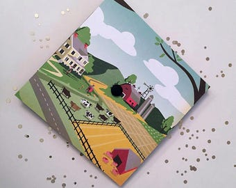 Graduation Cap | Agricultural Farm Scene | Affordable Graduation Cap
