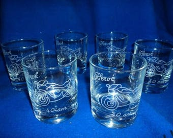 Personalized and engraved whiskey glasses