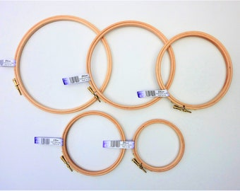 Embroidery hoop, superior quality UK brand Elbesee, 4 to 8 inch, 10 to 20 cm, cross stitch hoop