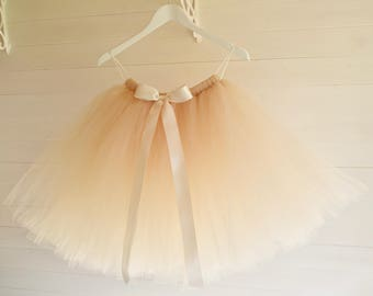 Tutu, girls tutu skirt, gold tutu, flower girl tutu, cream tutu, rose gold tulle skirt, baby tutu, ivory tutu, tutu skirt, flower girl dress
