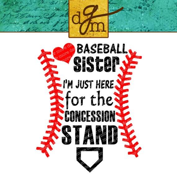 Baseball Sister Svg File Baseball Svg For T Shirts Hats
