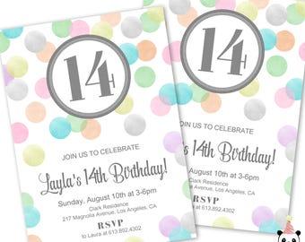 15 invitations etsy teen birthday invitations 14th birthday invites 15th birthday 13th birthday teen girl filmwisefo Gallery