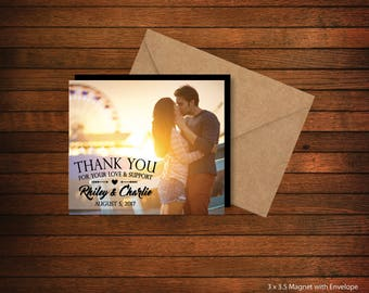 Thank You Photo Magnets   Personalized Photo Magnets   Wedding Favors   Birthday Favors   Party Favors > Envelopes Included > FREE SHIPPING