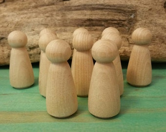 wooden peg people dolls woman peg 10 x 5cm tall 'mama'