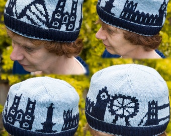 London Skyline Hat - a PDF Knitting Pattern