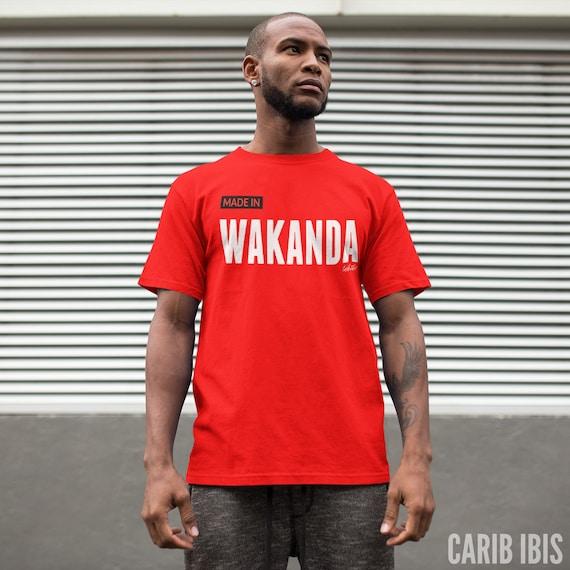 Wakanda T-Shirt Made in Wakanda Tee Black Panther Shirt Black Pride African Clothing African American T-Shirt HBCU tee Melanin Marvel Comics QNxqRhC42