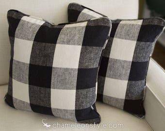 Claiborne Check Pillow - 18x18